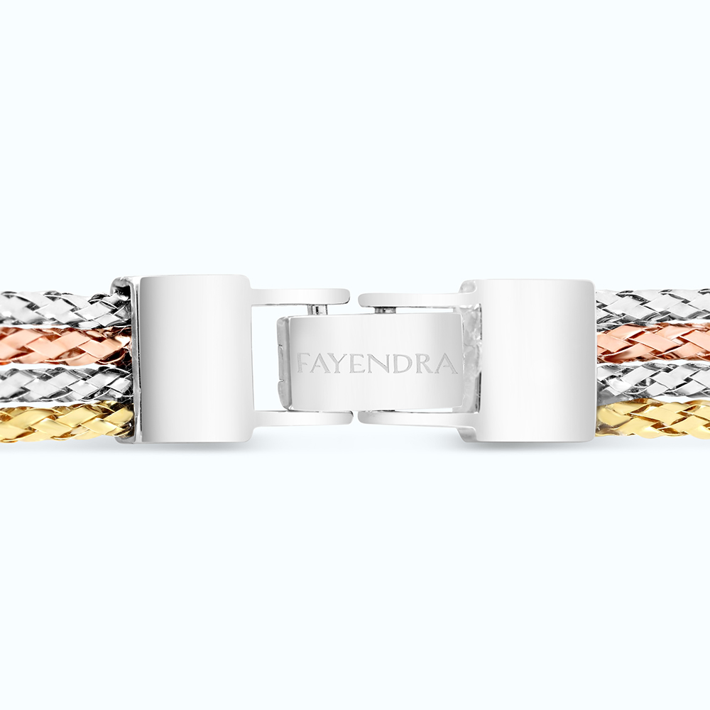 Sterling Silver 925 Bangle Rhodium, Gold, And Rose Gold Plated