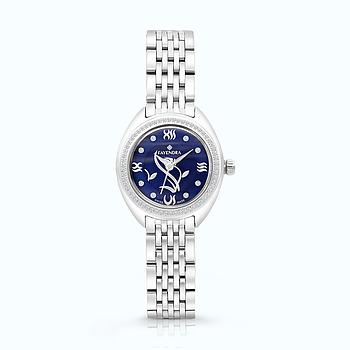 Stainless Steel Watch Rhodium Plated,  BLUE Dial
