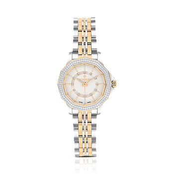 Stainless Steel 316L Watch, Rhodium And Rose Plated,For Women, MOP Dial