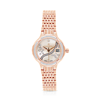 Stainless Steel 316L Watch Rose Gold Plated, MOP Dial ,For Women