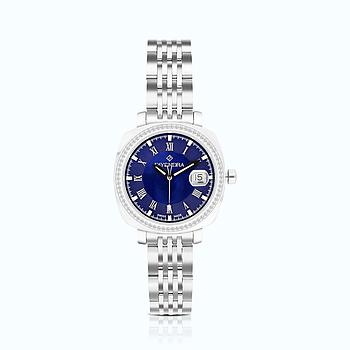 Stainless Steel 316L Watch Rhodium Plated, BLUE Dial